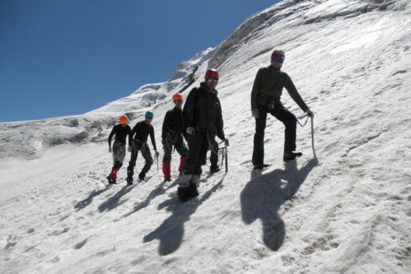 Отработка ходьбы по склону