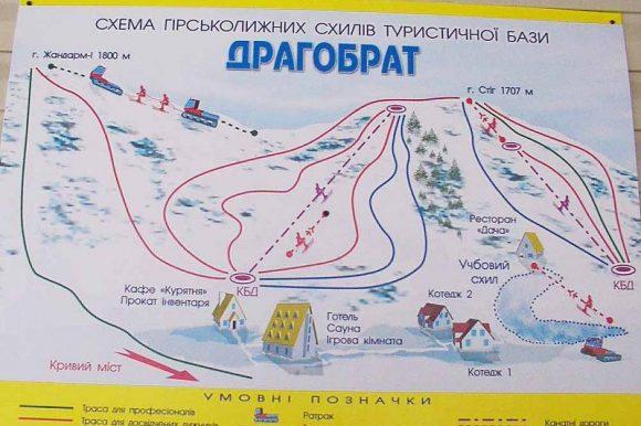 Схема трасс Драгобрат