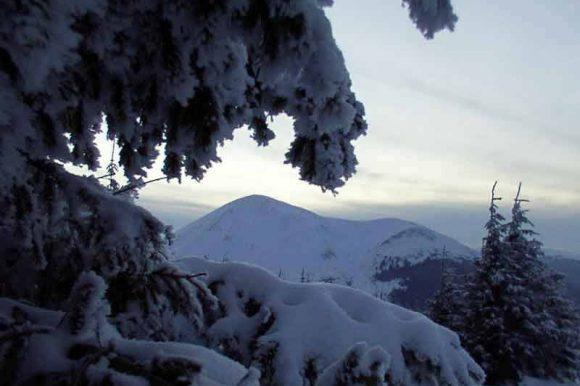 Вид на г. Говерла зимой