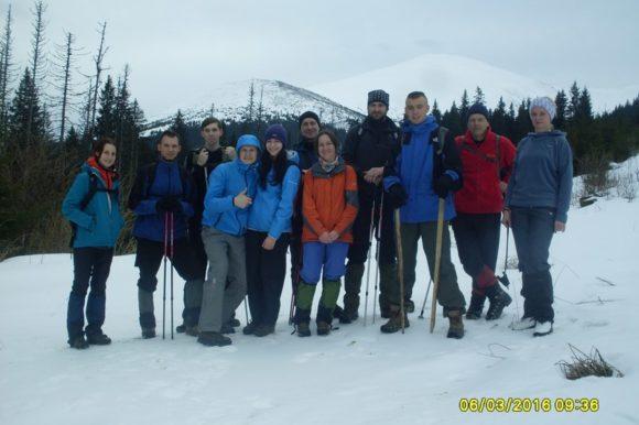 Команда горовосходителей на Говерлу