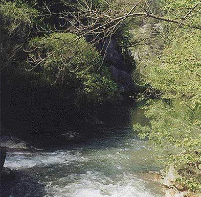 Вход в Чернореченский каньон