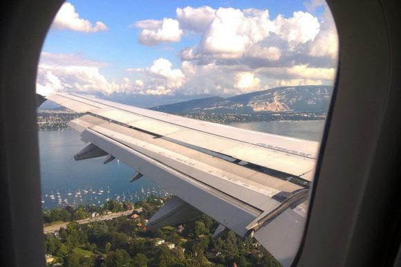 Вид на Женеву из иллюминатора
